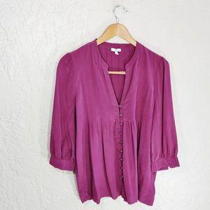 Joie Mesa Silk Pintuck Blouse